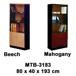 rak buku pintu kaca expo mtb-3183