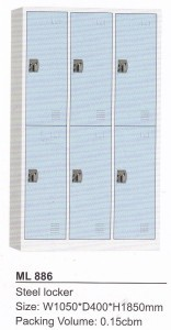 Locker 6 Pintu Modera ML 886-B